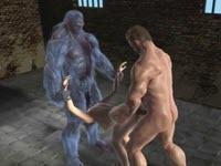 Hentai baisée par deux mutants